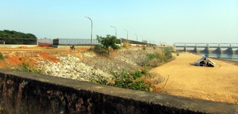 the land on the barrage