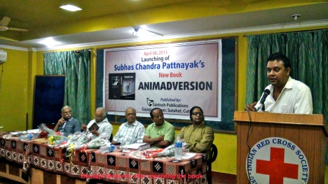 Biswajit after receiving the book