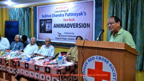 Prof J.Biswal speaking on the book