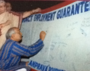 campaigning for employment guarantee