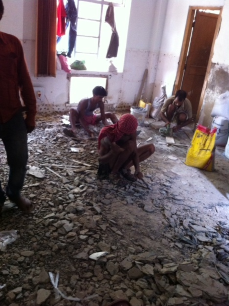 renovation goes on