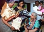 Indira Jaisingh feliciated by Shailabala Pujari