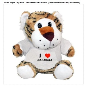 Tiger toy from U.K.