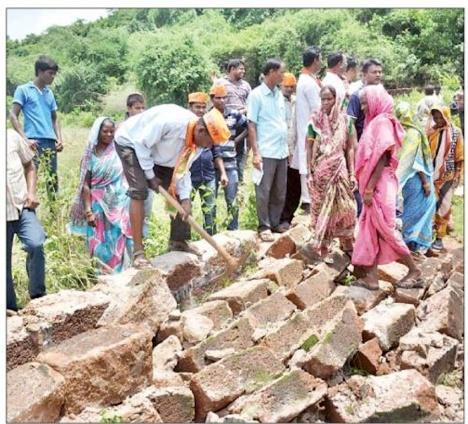 BJP destroys corpus delicti of land grab 1