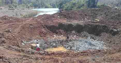 Severe destruction of Baitarani bed