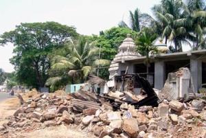 demolition of temple 4