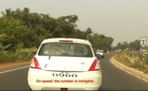 Vehicle with ineligible number plate