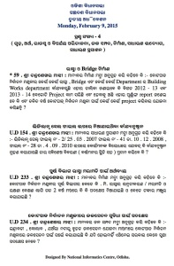 questions of Chandra Sekhar Majhi on 9.2.15