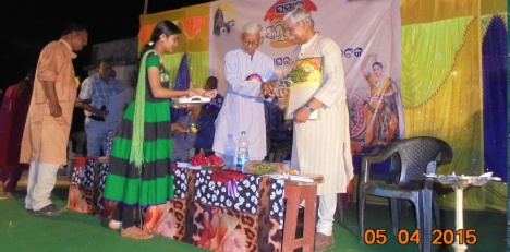 felicitation to Subhas Ch Pattanayak