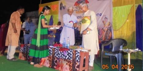 felicitation to Subhas Ch Pattanayak