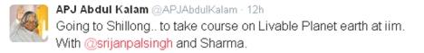 Kalam's last tweet