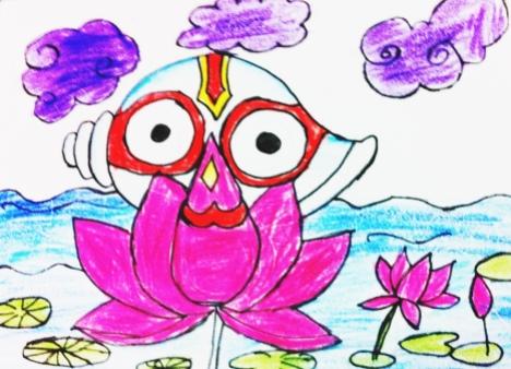 SriJagannatha by Adwiteeya Mohapatra, Class III, DPS-Kalinga