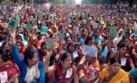 women betrayed by the govt. in family planning sector on gandhi marg_30.1