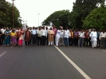 Road blockade by language activists 2